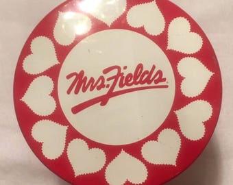 Mrs. Field Heart Tin 1995