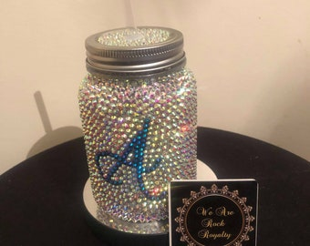 ad320b569 Personalised Bling Mason Jar with Handle
