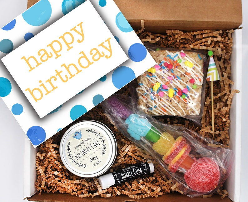 Blue Bubble Birthday Box Send A Gift Friend