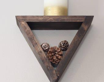 Small Geometric Shelf, Triangle Shelf, Geo Shelf, Rustic Shelving, Modern Shelf