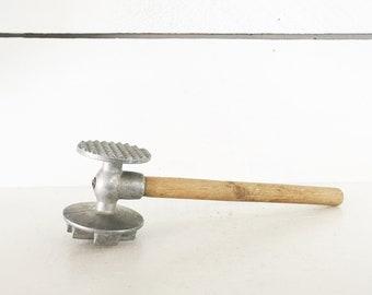 Antique Meat Mallet Wood Meat Hammer Wooden Mallet Steak Hammer Kitchen Tool