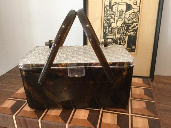 Vintage Acrylic Box Hand Bag
