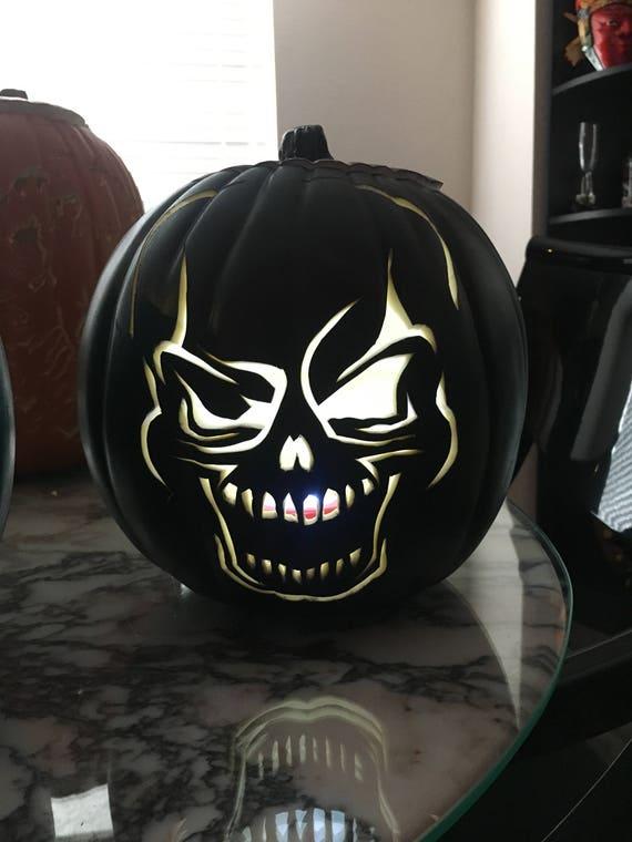 Winking Skeleton Pumpkin Etsy