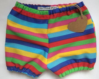 Carnival Stripe Baby Bloomers