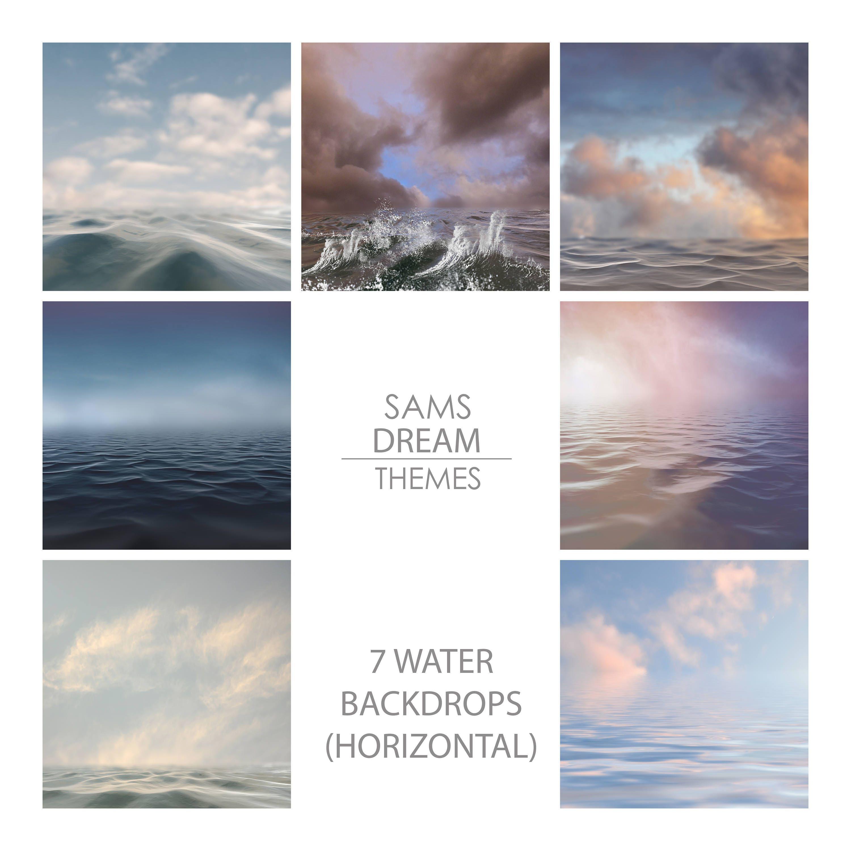 7 water digital backdrops digital background ocean etsy