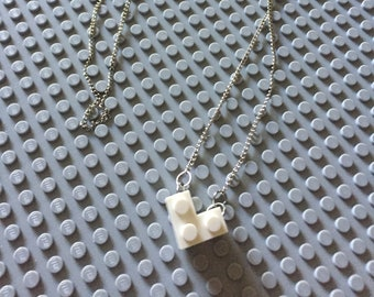 Lego necklace white