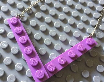 Lego necklace purple