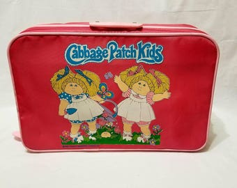 46a13c624f1c Vintage 1983 Cabbage Patch Kids Pink Suitcase Overnight Bag