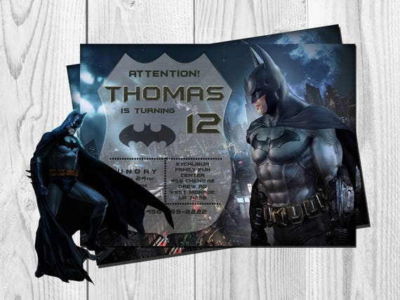 Batman Invitation Birthday Party