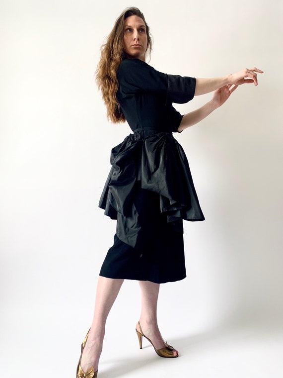 1940s Ceil Chapman cocktail dress vintage 40s sil… - image 5