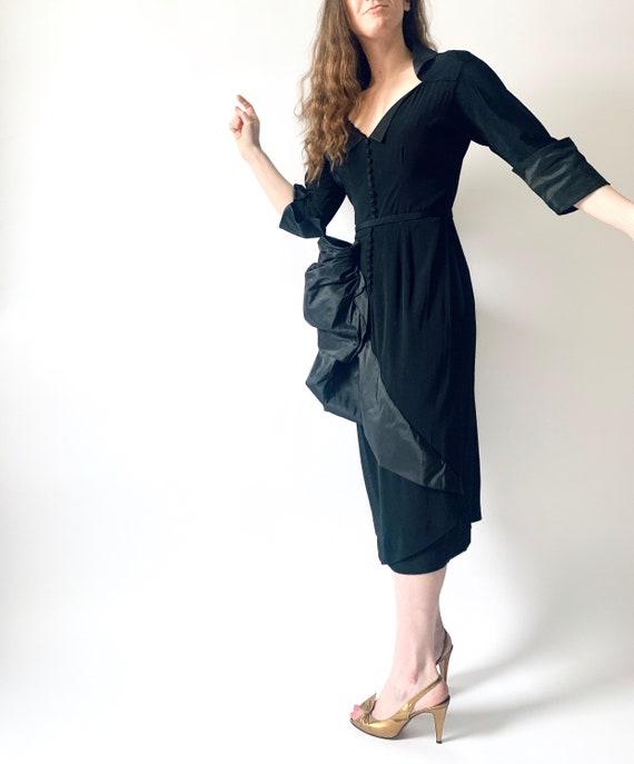 1940s Ceil Chapman cocktail dress vintage 40s sil… - image 2