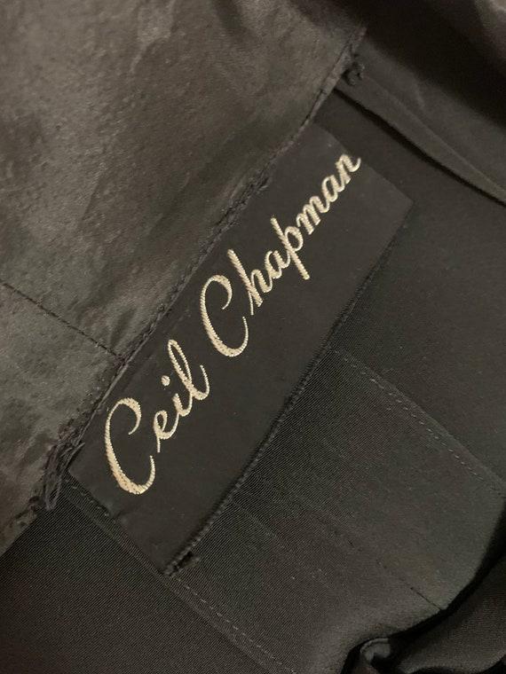 1940s Ceil Chapman cocktail dress vintage 40s sil… - image 7