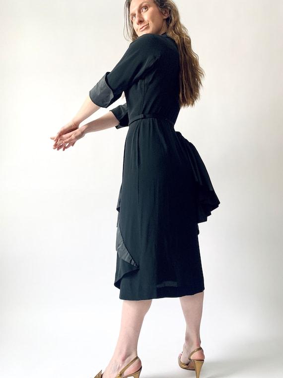 1940s Ceil Chapman cocktail dress vintage 40s sil… - image 6