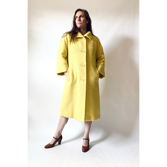 vintage 1950s swing coat 50s wool bouclé coat
