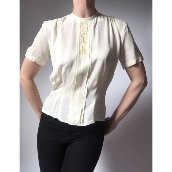 1940s blouse 40s cold rayon top