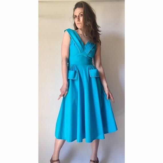 1950s Dress 50s Cotton Dress