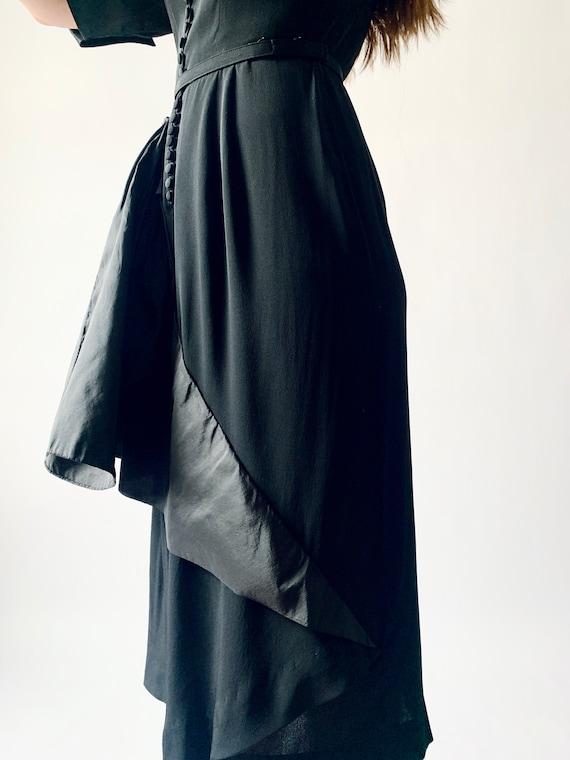 1940s Ceil Chapman cocktail dress vintage 40s sil… - image 3