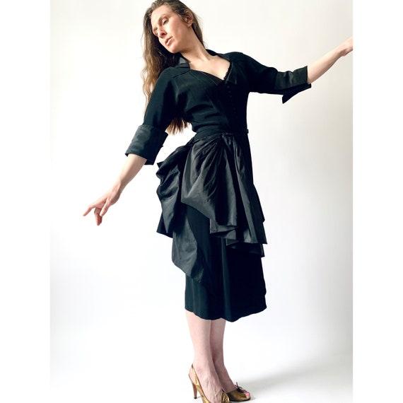 1940s Ceil Chapman cocktail dress vintage 40s sil… - image 1