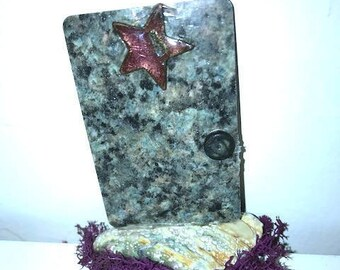 Fairy Door from OuterSpace with Purple Moss