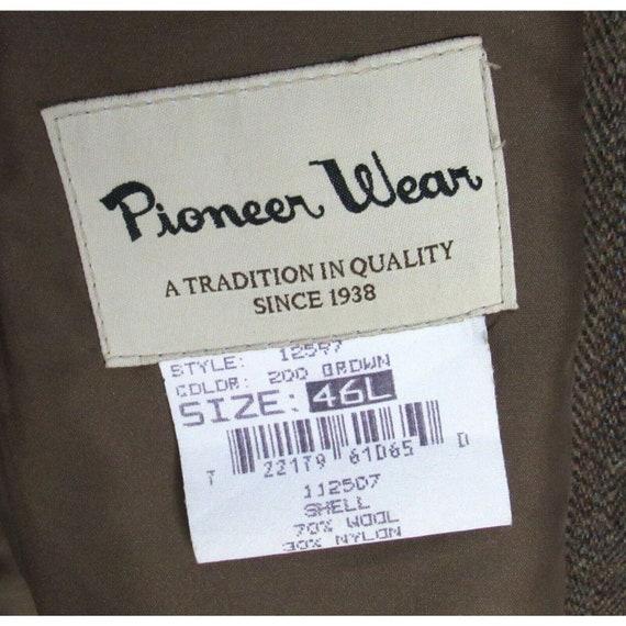 Vintage 70s Pioneer Wear Leather Trim Blazer 46L … - image 5