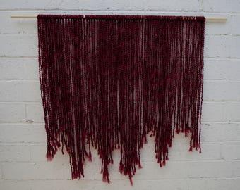 Yarn Wall Hanging   Boho Wall Art   Macrame Wall Hanging   Bohemian Wall hanging Tapestry  