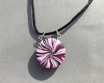 Polymer Clay Swirl Necklace