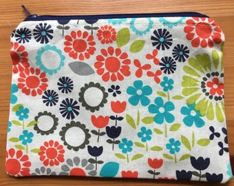 Reusable Snack Bag - Bright Flowers