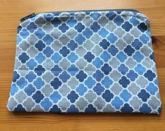 Reusable Snack Bag - Blue and Gray