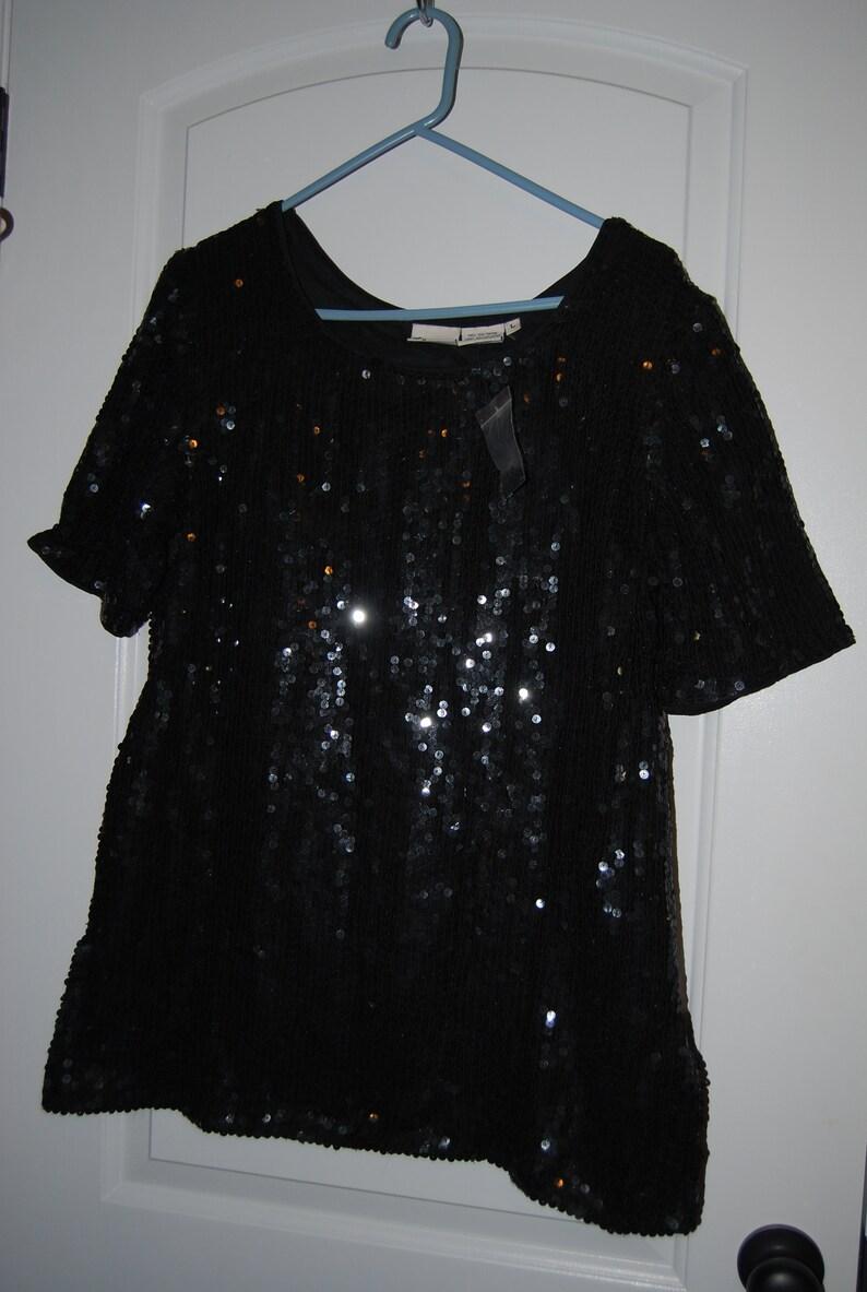 styleworks, 2 ladies vintage  sequinbeaded tops