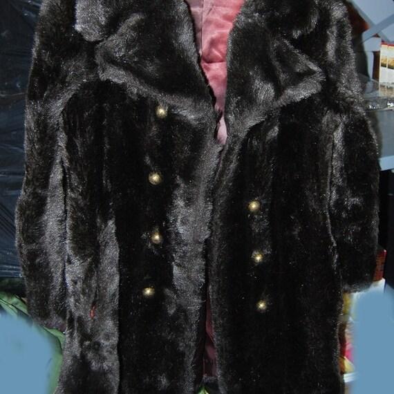 Vintage Faux-fake fur jacket ladies medium