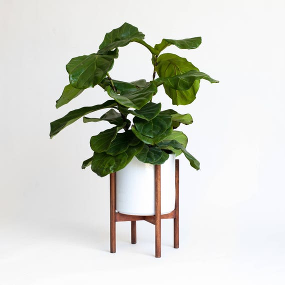 mid century modern planter Large Mid Century Modern Planter Plant Stand with 10 in   Etsy mid century modern planter