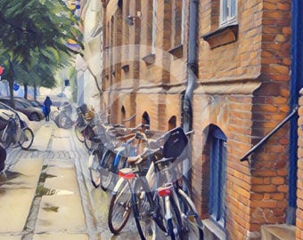 Original Photography of Bicycles in Copenhagen, Denmark
