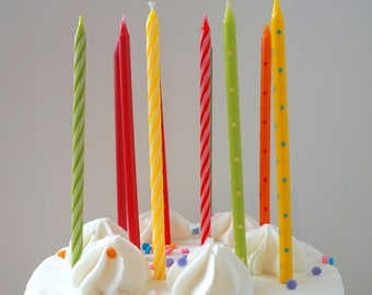 Rainbow Birthday Candles Cake Candle Party Supplies Topper Multi Color