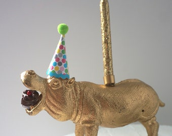 Hungry Hippo Cake Topper Candle Decoration Party Supplies Birthday 1st First Circus