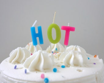 Hot Candle Cake Birthday Party Supplies Topper 40th 50th