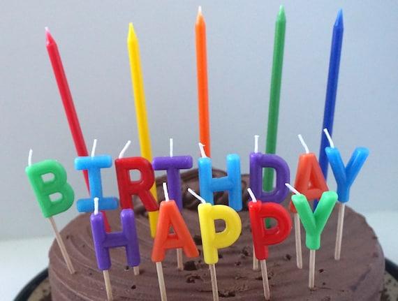 Rainbow Birthday Candles Cake Candle