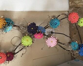 Zinnia Flower Infinity Wreath