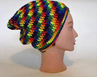 3f1bb310719 Super Slouchy Gender Neutral Rainbow Beanie