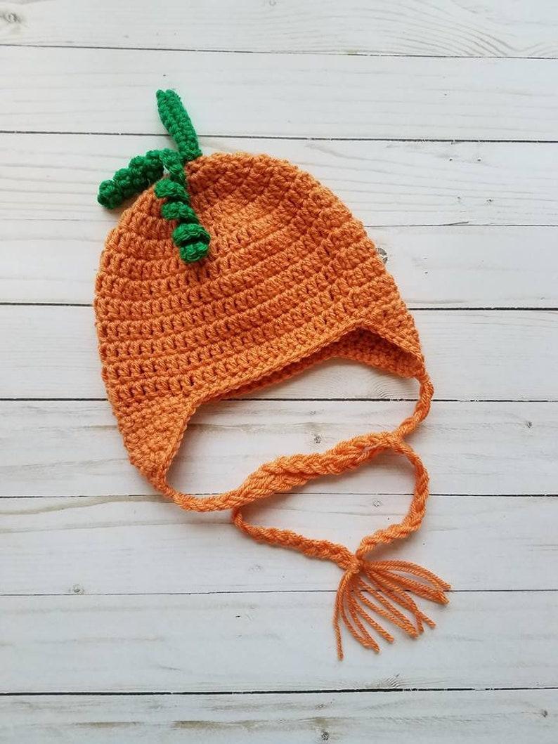 df06f4c1e Pumpkin Hat, Baby Pumpkin Hat, Thanksgiving Hat, Baby Hat, Costume Hat,  Halloween Hat, Autumn Hat, Baby Photo Prop Hat, Crochet Pumpkin Hat