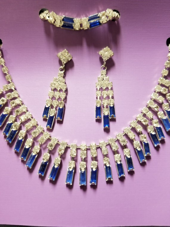 90/'s Taxco Multi-Gemstone Mosaic insets OnyxLapis Lazulimarcasite and sterling silver 925 choker linked necklace and braceletjewelry set