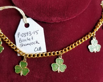 Bracelet- shamrock charm Luck of the Irish