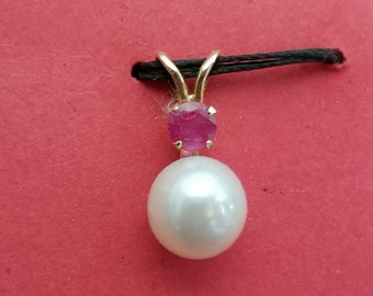 ruby and pearl charm