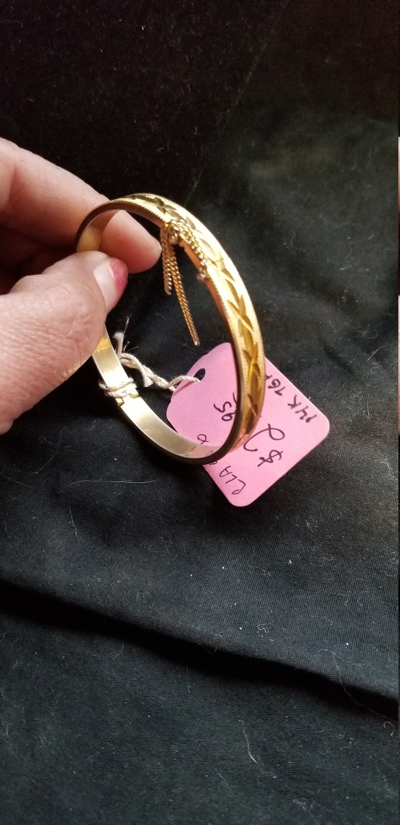 Bracelet gold design with safety chain