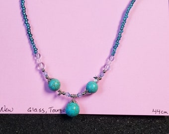 new glass turquoise necklace