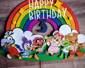 Muppet Babies cake topper/kermit/miss piggy