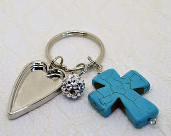 PRAY Keychain/ Prayer Keychain/ Prayer reminder/ Christian Jewelry/ Baptism Gift/ Confirmation Gift/ Communion Gift/ bible verse keychain