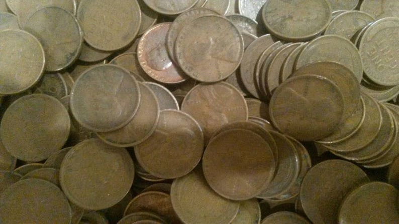 10 lbs bag of 1909 1939 (Pre 1940) PDS Lincoln Wheat penny