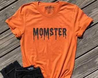 495aaea80 momster shirt, mom halloween shirt, mom halloween costume, funny mom  halloween shirt, mom life shirt, burnt orange unisex tee