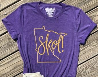 ea101f32c7f minnesota skol shirt, minnesota tshirt, skol chant shirt, minnesota  football shirt, minnesota shirt, skol tshirt, purple unisex tee