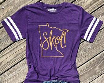 4af63399723 minnesota skol shirt, minnesota football tshirt, skol chant shirt, minnesota  football shirt, skol tshirt, minnesota tee, purple football tee